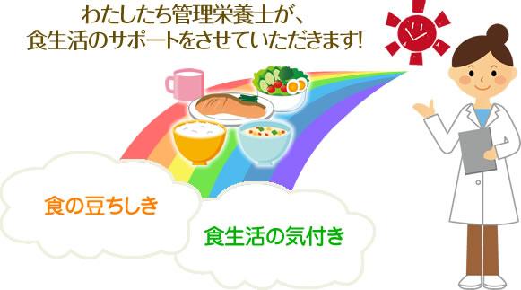 管理栄養士が食生活をサポート